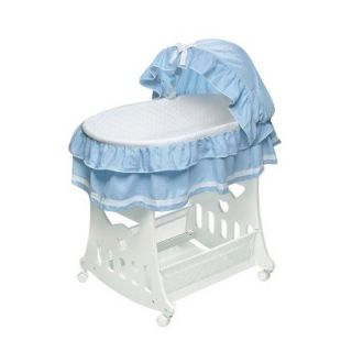 2 in 1 Portable Bassinet with Toy Box Base   Blue