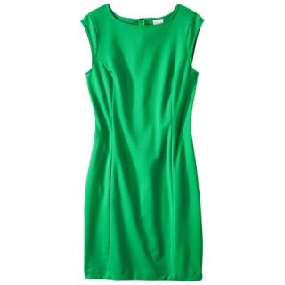 Merona Petites Sleeveless Ponte Sheath Dress   Green LP