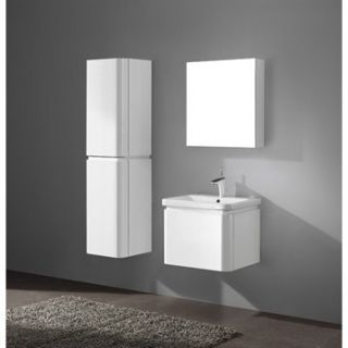 Madeli Euro 24 Bathroom Vanity with Integrated Basin   Glossy White