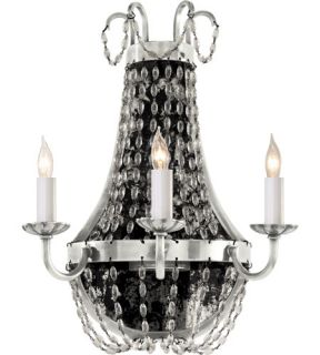 E.F. Chapman Paris Flea Market 3 Light Wall Sconces in Polished Silver CHD1408PS SG
