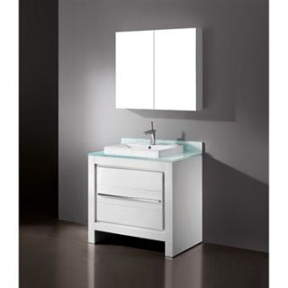 Madeli Vicenza 36 Bathroom Vanity   Glossy White