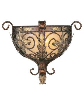 Pomplano 1 Light Wall Sconces in Palacial Bronze With Gilded Accents 8841 64