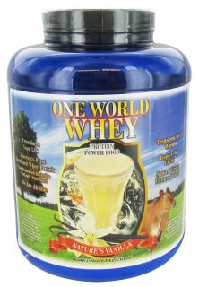 One World Whey   Protein Power Food Natures Vanilla   5 lb.