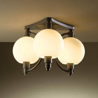 Pluto 3 Light Semi Flush Ceiling Light