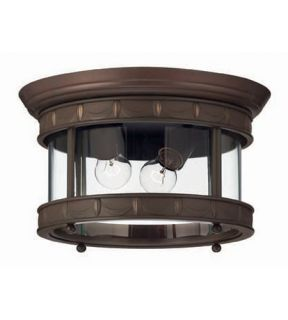 Lucerne 2 Light Outdoor Ceiling Lights in Copper Bronze 2313CB