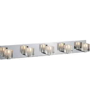 Blocs 5 Light Bathroom Vanity Lights in Polished Chrome E22171 18