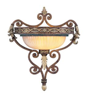 Seville 1 Light Wall Sconces in Palacial Bronze With Gilded Accents 8531 64
