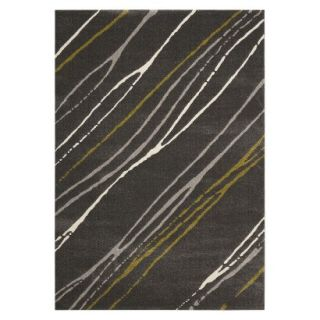 Safavieh Contemporary Stripes Area Rug   Dark Gray (67x96)