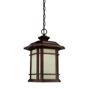 Acclaim Lighting Somerset Collection Hanging Outdoor 1 Light Architectural Bronze Light Fixture 8126ABZ