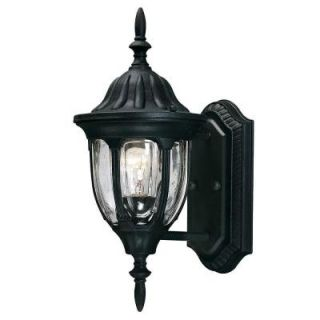 Illumine 1 Light Outdoor Textured Black Exterior Wall Mount Lantern CLI SH202852925