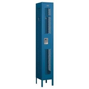 Salsbury Industries 71000 Series 12 in. W x 78 in. H x 12 in. D Single Tier Vented Metal Locker Assembled in Blue 71162BL A