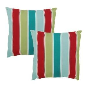 Hampton Bay Caroll Stripe Outdoor Throw Pillow (2 Pack) 7050 02000800