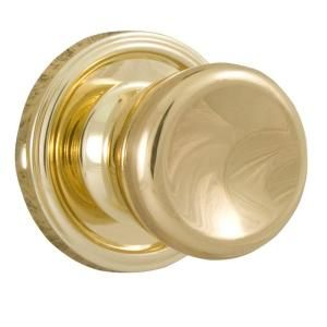 Weslock Essentials Polished Brass Privacy Sonic Knob 00411O3O3SL20