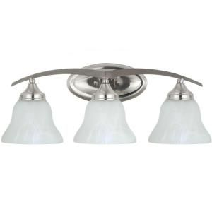 Sea Gull Lighting Brockton 3 Light Brushed Nickel Vanity Fixture 44176 962