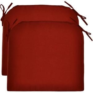 Hampton Bay Red Tweed Outdoor Seat Pad (2 Pack) 7399 02222400