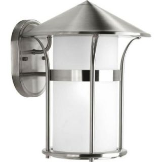 Progress Lighting Welcome Collection Wall Mount Outdoor Stainless Steel Lantern P6005 135