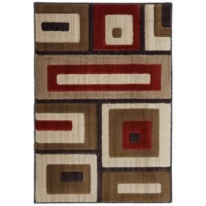 Mohawk Modern Blocks Light Beige 2 ft. x 3 ft. Accent Rug 381943