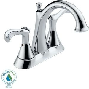 Delta Carlisle 4 in. 2 Handle High Arc Bathroom Faucet in Chrome 25939LF