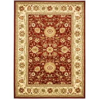 Safavieh Lyndhurst Red/Ivory 9 ft. x 12 ft. Area Rug LNH212F 9
