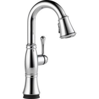 Delta Cassidy Touch Single Handle Pull Down Sprayer Bar Faucet in Chrome 9997T DST