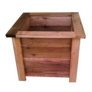 Western Red Cedar Large Square Planter SP17871
