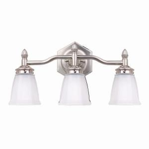 Hampton Bay 3 Light Brushed Nickel Bath Light 05930