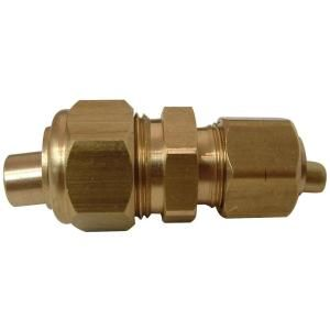 Watts 1/2 in. x 3/8 in. Lead Free Brass Compression x Compression Union with Insert LF A209