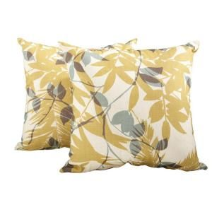 Hampton Bay Haver Hill Outdoor Throw Pillow (2 Pack) 14H 062 TP2