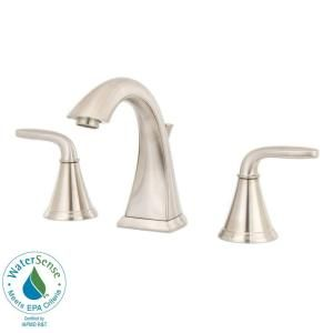 Pfister Pasadena 8 in. Widespread 2 Handle High Arc Bathroom Faucet in Brushed Nickel F 049 PDKK