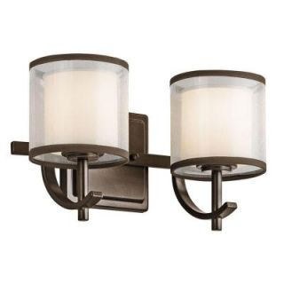Hampton Bay 2 Light Mission Bronze Wall Vanity 89573