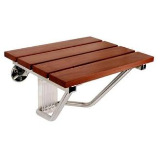 SteamSpa 15 in. x 12 in. Teak Wood Wall Mounted Shower Seat SS F