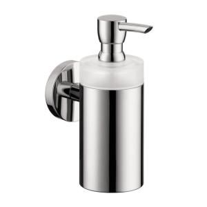 Hansgrohe Wall Mount Brass and Plastic Soap Dispenser in Chrome 40514000