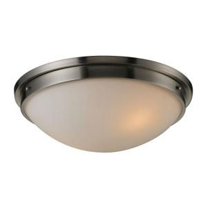 Titan Lighting 2 Light Ceiling Brushed Nickel Flush Mount TN 7690