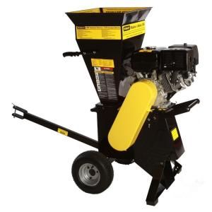 Stanley 4 in. x 4 in. 15 HP 420 cc Gas Commercial Duty Electric Start Chipper Shredder CH5