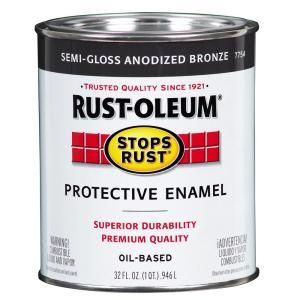 Rust Oleum Stops Rust 1 qt. Protective Enamel Semi Gloss Anodized Bronze Paint (2 Pack) 7754502