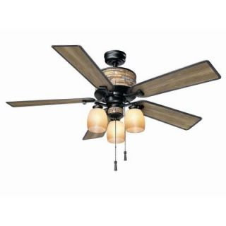 Hampton Bay Ellijay 52 in. Indoor/Outdoor Natural Iron Ceiling Fan YG205 NI