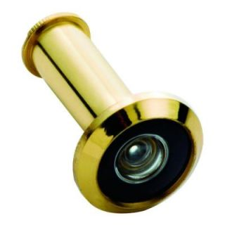 First Watch Security 190 Degree Wide Angle Solid Brass Door Viewer 2320