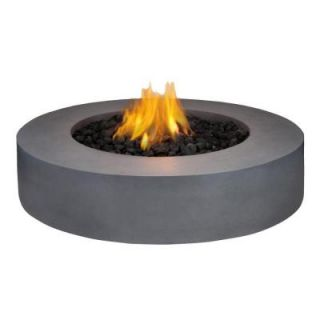 Real Flame Mezzo 42 in. Round Flint Gray Propane Gas Fire Pit 9660LP FG