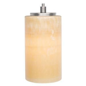 LBL Lighting Onyx Cylinder 1 Light Hanging Satin Nickel Mini Pendant HS176ONSC1B50MPT