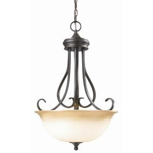 Design House Cameron 1 Light Oil Rubbed Bronze Pendant Light Fixture 512681