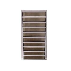 Air Master Windows and Doors Mater Guard 4 in. Security Louver Windows, 24 in. x 49 1/4 in., White, with Bronze Glass 92262