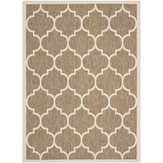 Easy to maintain Safavieh Indoor/ Outdoor Courtyard Brown/ Bone Rug (4 X 57)