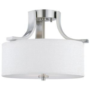 Thomas Lighting Pendenza 2 Light Ceiling Brushed Nickel Flush Mount SL860978