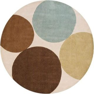 Chandra Bense Multi 7 ft. 9 in. Round Indoor Area Rug BEN3024 79RD