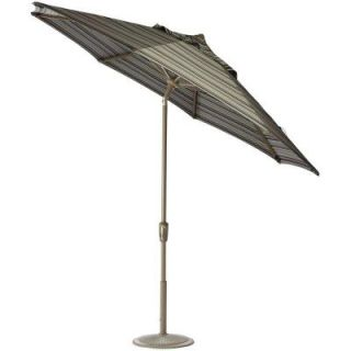 Home Decorators Collection 11 ft. Auto Tilt Patio Umbrella in Brannon Whisper Sunbrella with Champagne Frame 1549720380