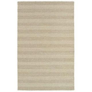 LR Resources Tribeca White and Beige 8 ft. x 10 ft. Reversible Wool Dhurry Indoor Area Rug LR04311 WHBE810
