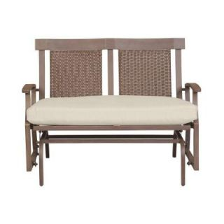 Hampton Bay Bloomfield Patio Double Glider with Bare Cushion 14H 039 GLDR NF