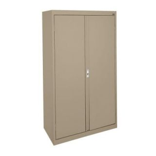 Sandusky System Series 36 in. W x 64 in. H x 18 in. D Double Door Storage Cabinet with Adjustable Shelves in Tropic Sand HA3F361864 04
