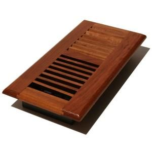 Decor Grates 4 in. x 14 in. Solid Brazilian Cherry Wood Floor Register with Damper Box WLC414 N