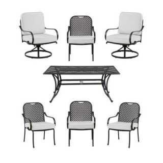 Hampton Bay Fall River 7 Piece Patio Dining Set with Bare Cushion DY11034 7 B